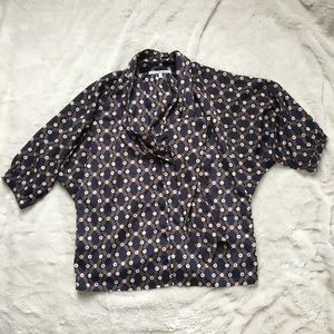 Collective Concepts Vintage Floral Tie Neck Blouse